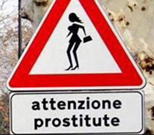 funny italian sign warning sign for hookers