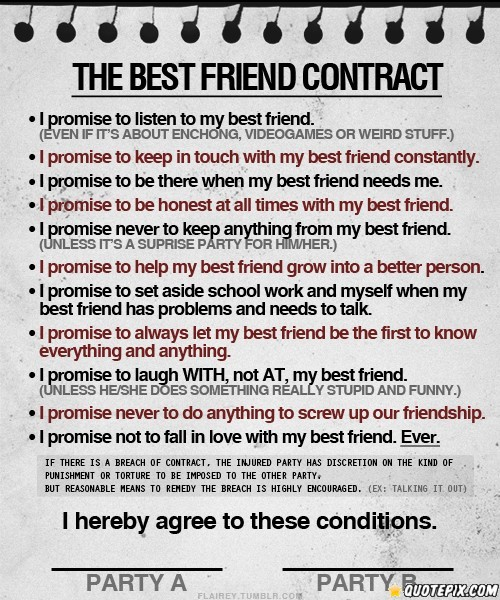 THE BEST FRIEND CONTRACT