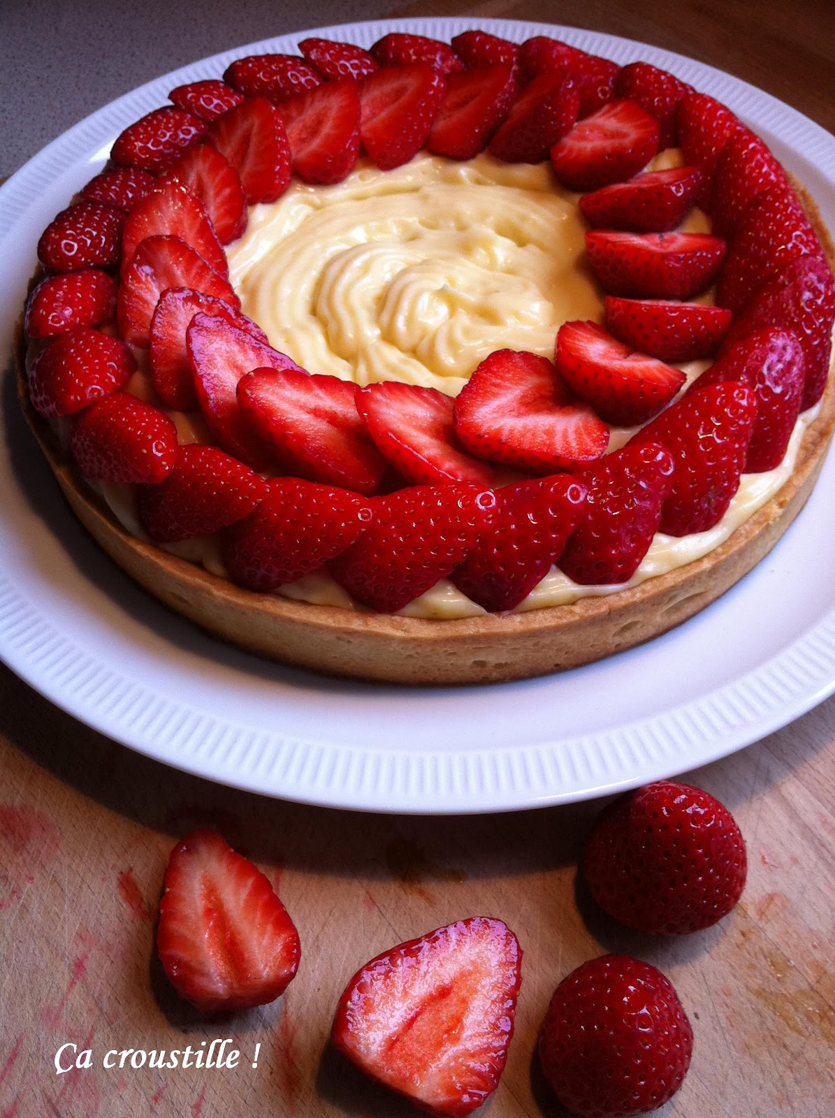 Tarte fraise creme patissiere chantilly
