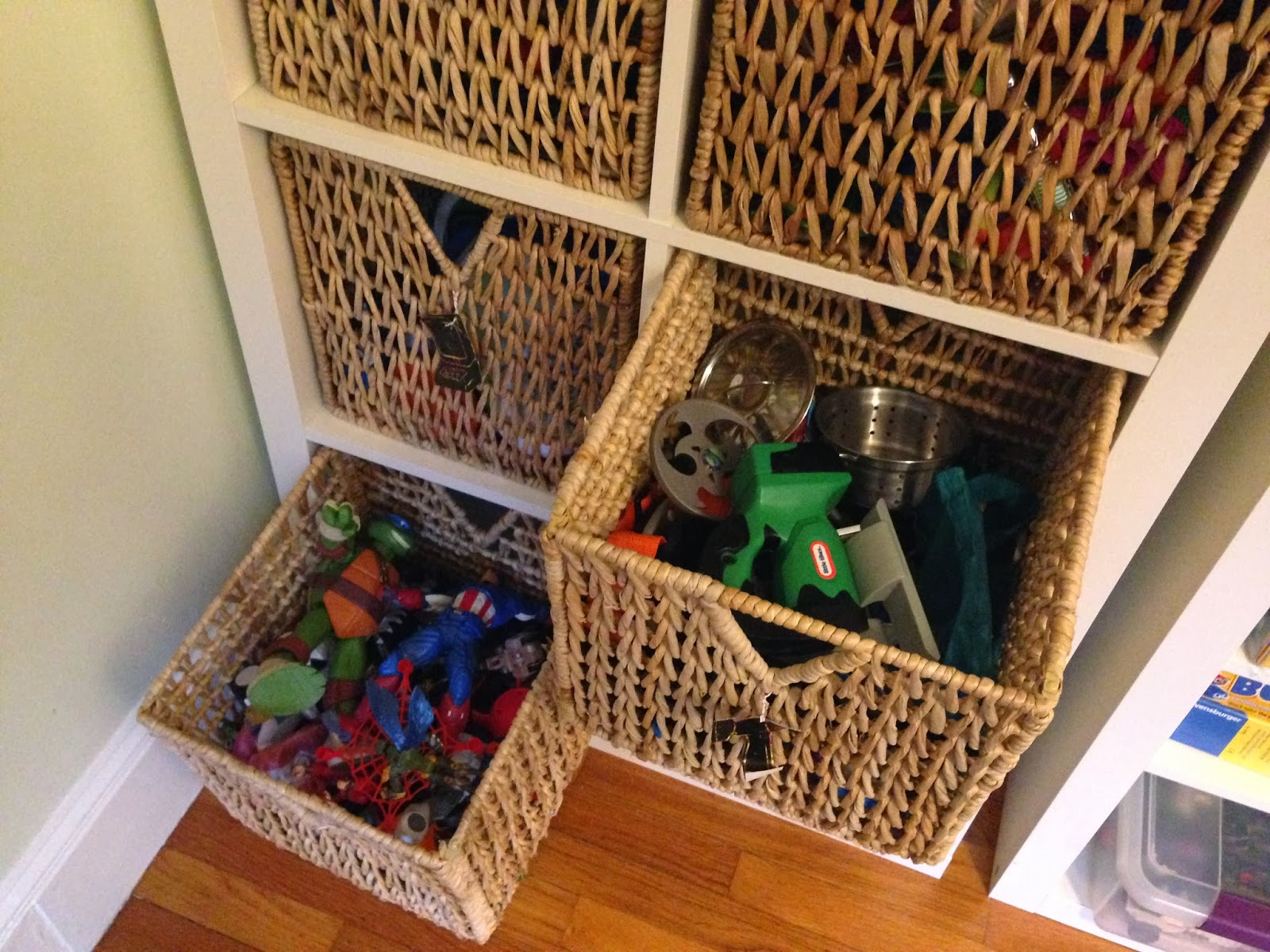 Expedit wicker toy storage