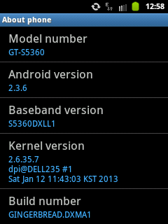 Firmware Samsung Galaxy Y GT-S5360