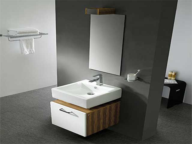 Modern small bathroom design 2017 grasscloth wallpaper - Modern bathroom design for small spaces ...