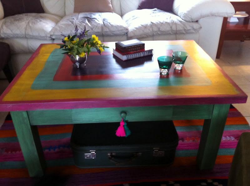 Vintouch muebles reciclados pintados a mano mesa for Muebles pintados a mano