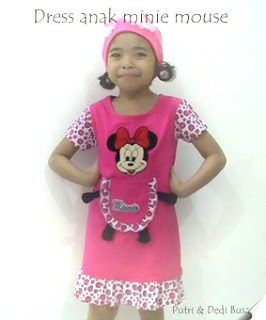 dress anak minie mouse