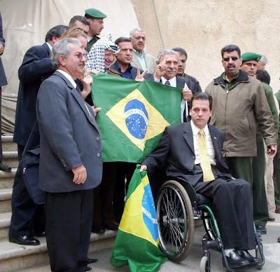 Delegação Brasileira e Yasser Arafat