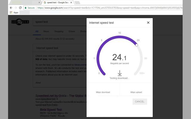 الإنترنت الحقيقية Speed Test Tool image3.jpg