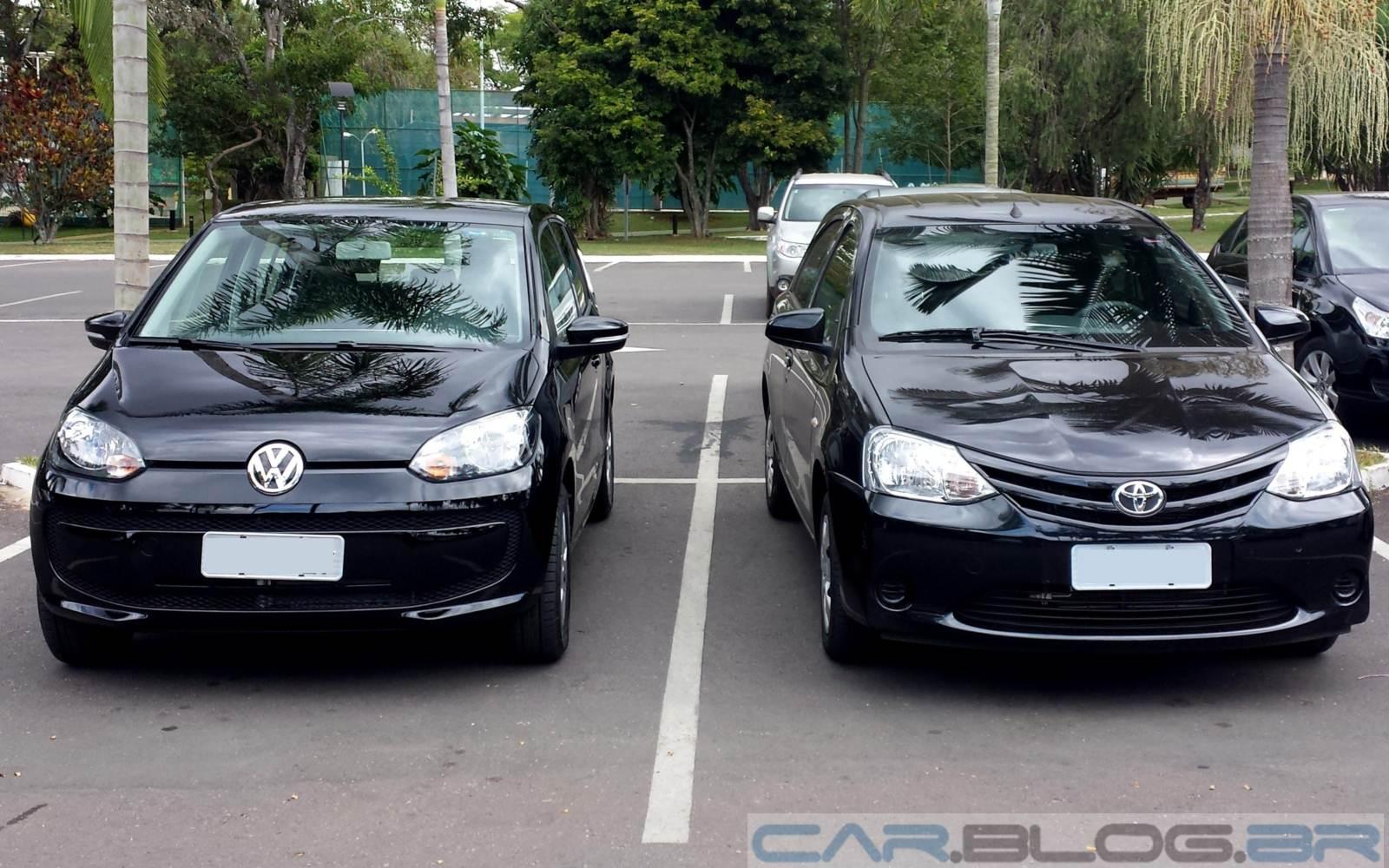 """Volkswagen Up! e Toyota Etios - Os melhores compactos na pesquisa """"Os Eleitos"""" 2015"""
