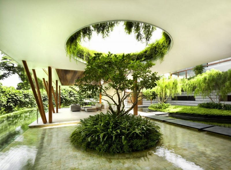 The Willow House in Singapore with Garden Roof - Modern ...