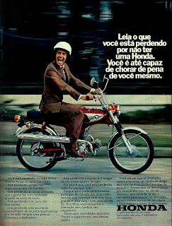 honda. 1973. brazilian advertising cars in the 70. os anos 70. história da década de 70; Brazil in the 70s; propaganda carros anos 70; Oswaldo Hernandez;