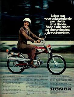 honda. 1973. brazilian advertising cars in the 70. os anos 70. história da década de 70; Brazil in the 70s; propaganda carros anos 70; Oswaldo Hernandez;