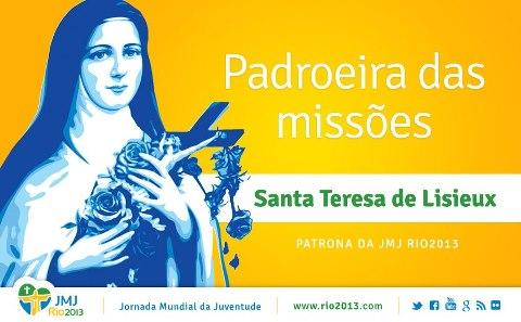Jornada Mundial da Juventude terá relíquias de Santa Teresinha