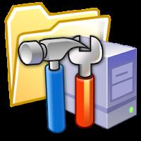 Teselas de las herramientas administrativas en la pantalla de inicio