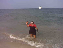 Roxanne in the Atlantic Ocean in Jersey