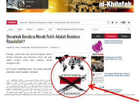 Website Syabab HTI Menghina Bendera Negara Sang Merah Putih