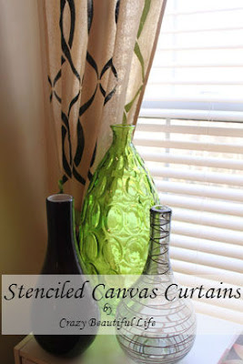Stencil Canvas Curtains