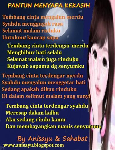 PUISI CINTA BY ANISAYU: Pantun Menyapa Kekasih Disaat ...