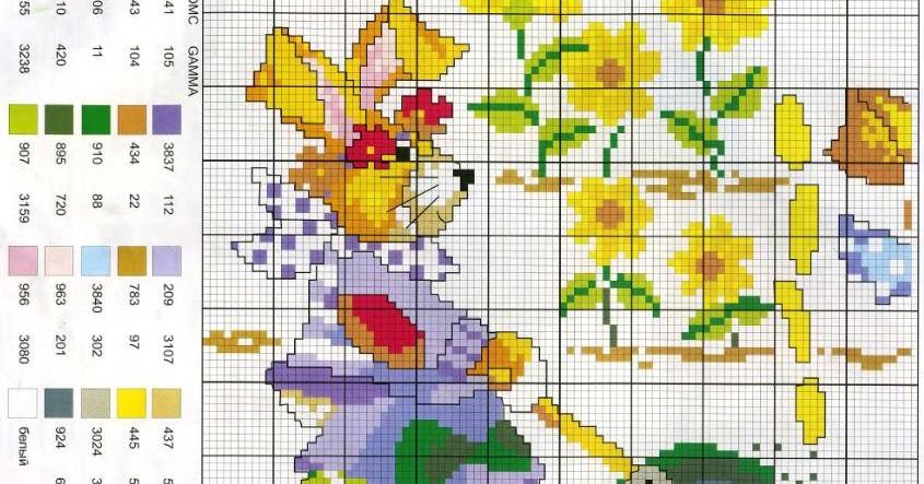 En el jard n laboresdeesther punto de cruz gratis - Punto jardin ...