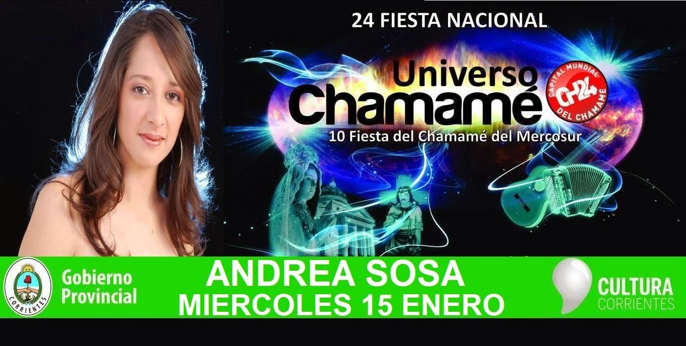 Andrea Sosa en vivo en la Fiesta Nacional del Chamame