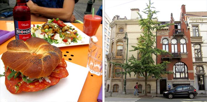 Bruxelles - bagel au Point de Chute et Art Nouveau - http://spicerabbits.blogspot.fr/