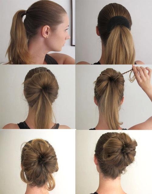 Причёски на волосах до плеч в домашних условиях8