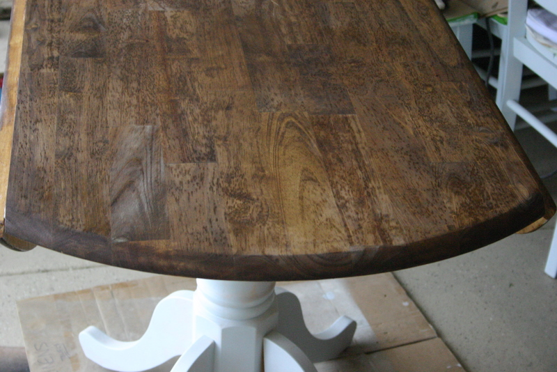 Third I Stained The Top With Minwax Provincial Stain