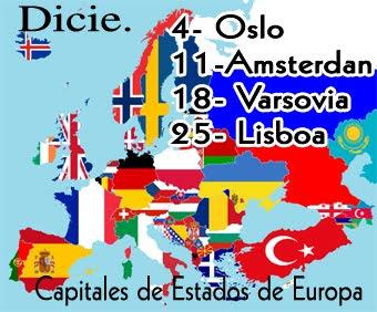 Capitales que visitamos en diciembre.
