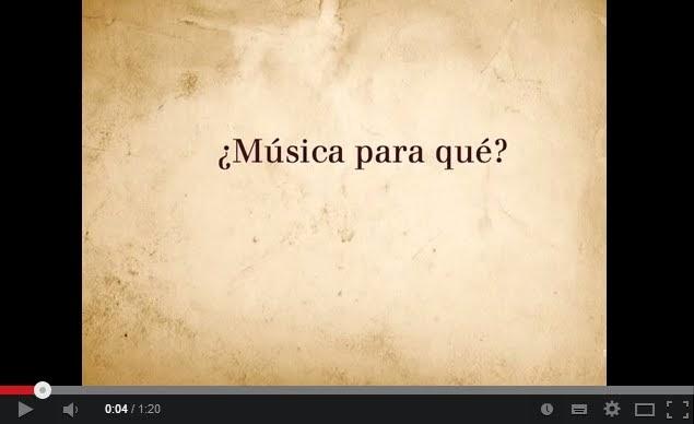¿Música para qué?