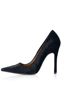 Topshop Gallop Velvet Court Shoes