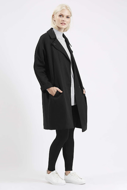 topshop black duster coat, black boyfriend coat,