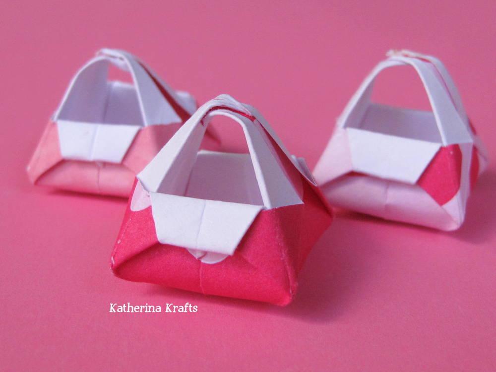 katherina krafts miniature origami baskets