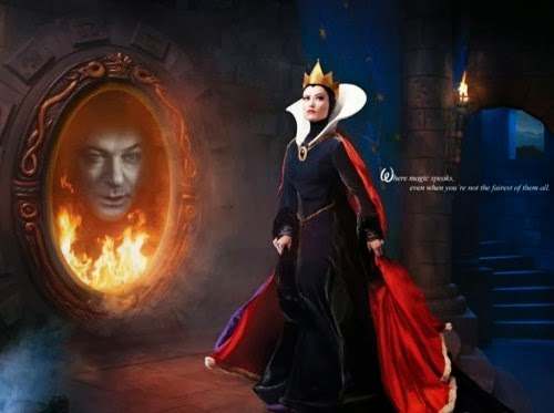 Olivia Wilde and Alec Baldwin Evil Queen mirror on the wall animatedfilmreviews.filminspector.com