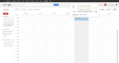 creando evento hangout en Google Calendar