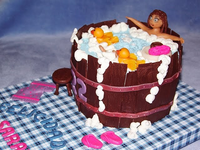 chica en chica tarta de crema