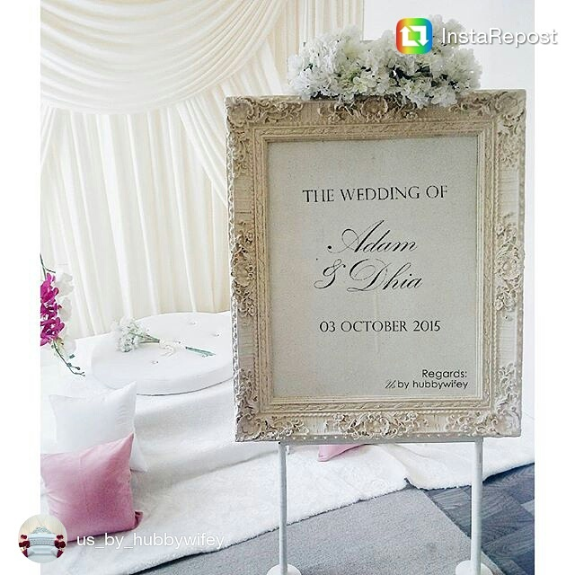 Us By HubbywifeyJust Add On This Vintage Exclusive Welcome Board In Your Preferred Package For Only MYR 70 Book Slot Now