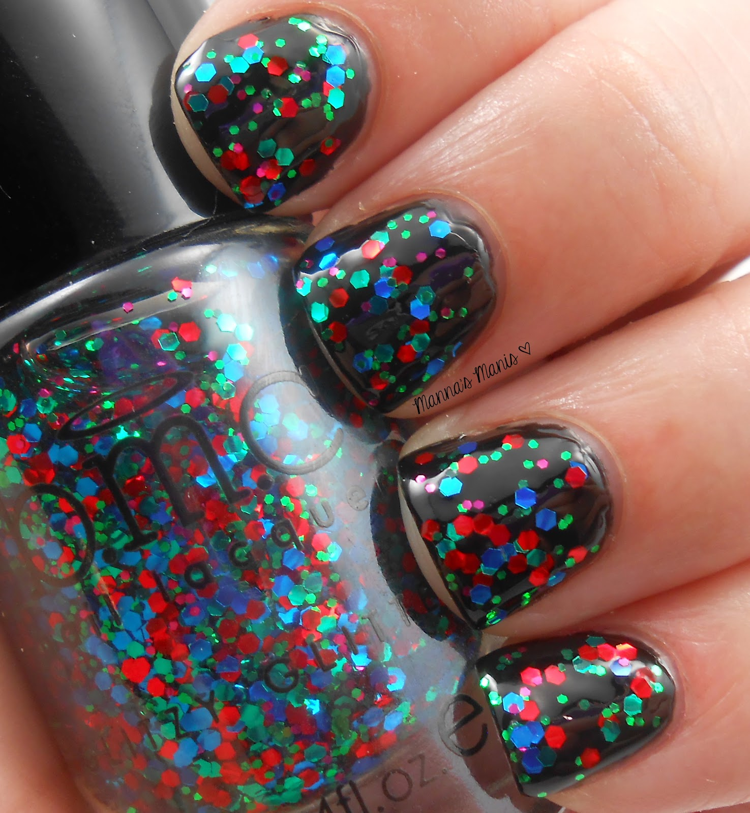 BMC girls night out, a multicolored glitter nail polish