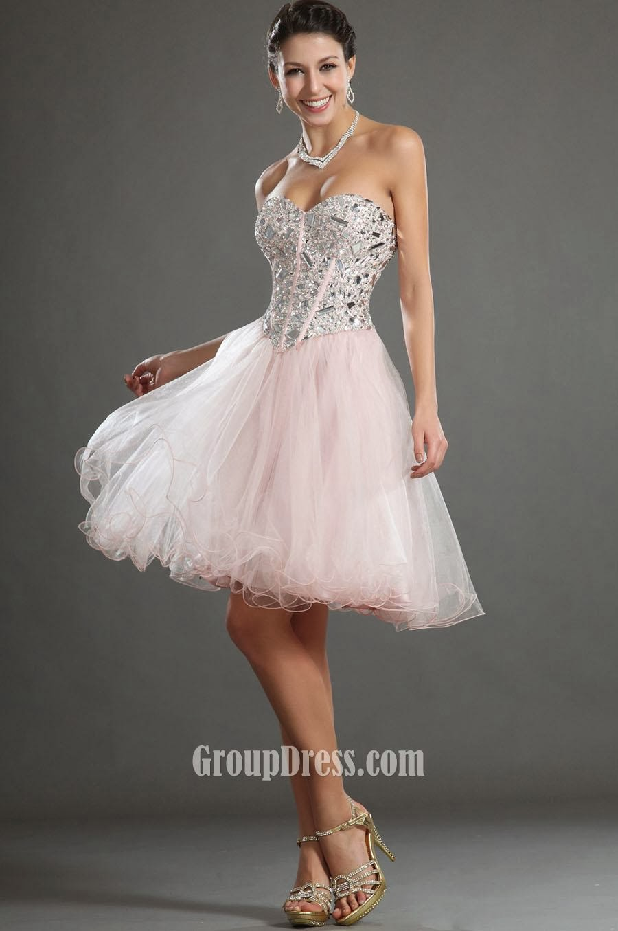 Beaded Bodice A-line Short Prom Dress