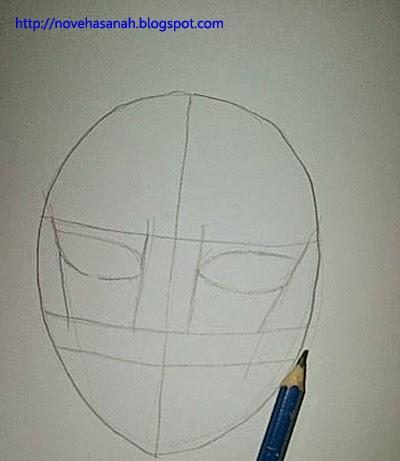 buat outline untuk mata anime