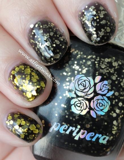 Modi nail polish 80 vs. Peripera BK504