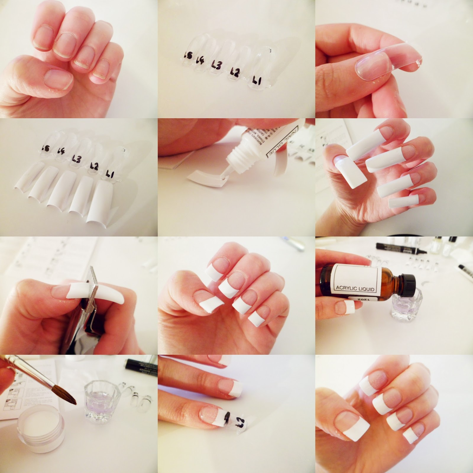 Acrylic nail sizes home decoration live for Acrylic nail decoration