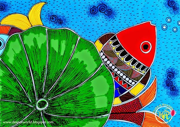 Madhubani-Fish-Hues-n-Shades