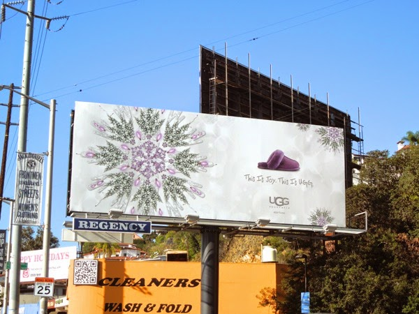 This is Joy UGG slipper billboard