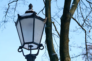 Lampadaire sous la neige - Berlin