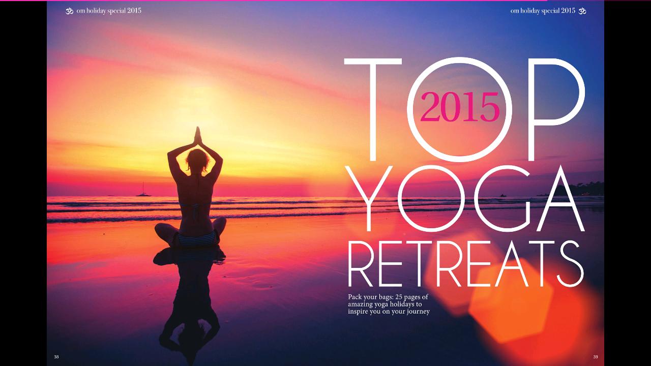 Yoga Retreats: Om Yoga Magazine April (and giveaway)