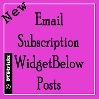 Email Subscription widget for blog with social sharing