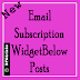 Email Subscription Below posts with social sharing for blogger