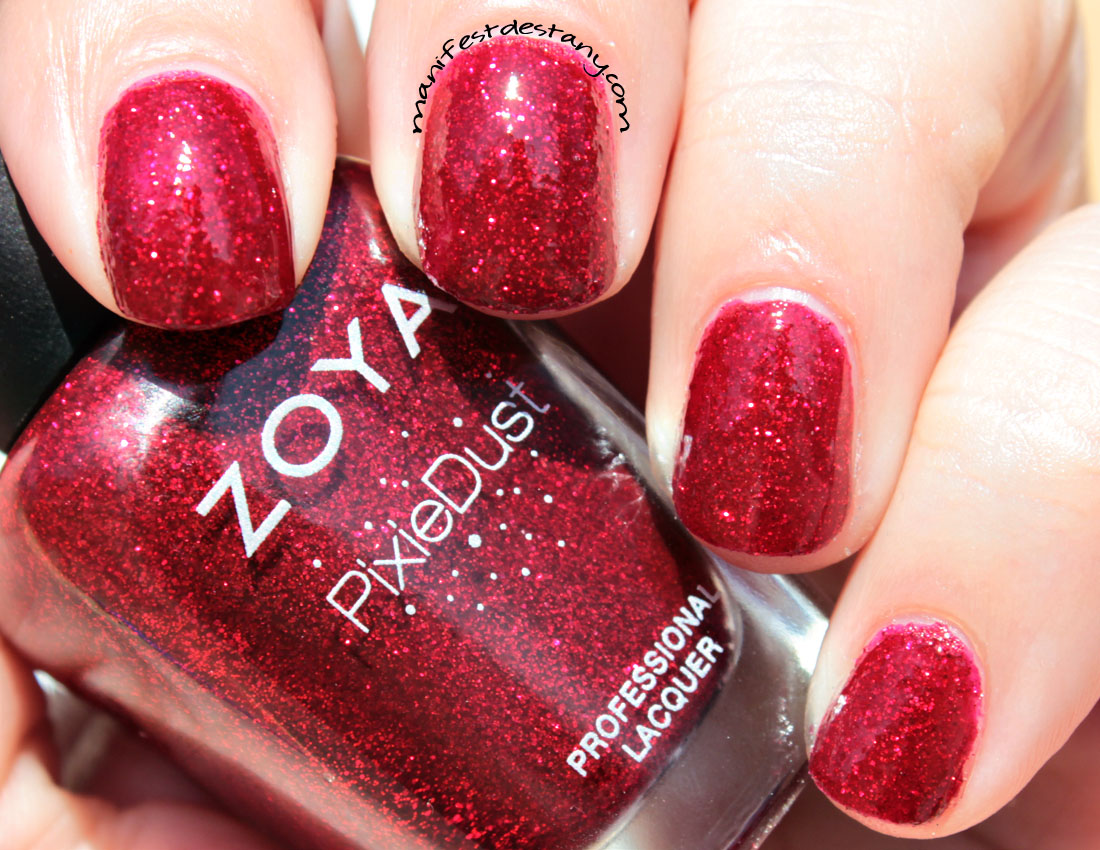 Zoya PixieDust in Chyna swatches+review - Confessions of a