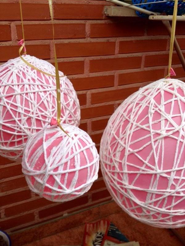 Manualidades amelia esferas de hilo y ganchillo para for Decoracion vintage manualidades