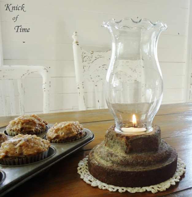 Repurposed Rusty Bolt Candle Holder - www.KnickofTime.net