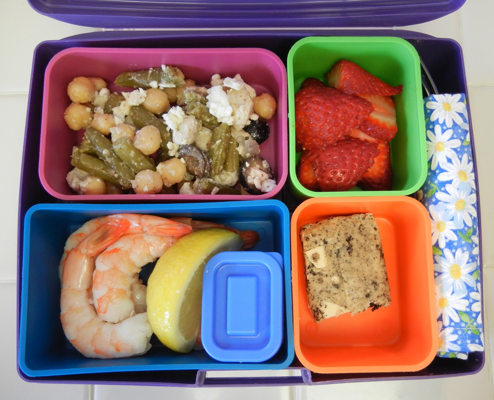 Bento+Shrimp+Cocktail+Garbanzo+Green+Bean+Salad Weight Loss Recipes A day in my pouch