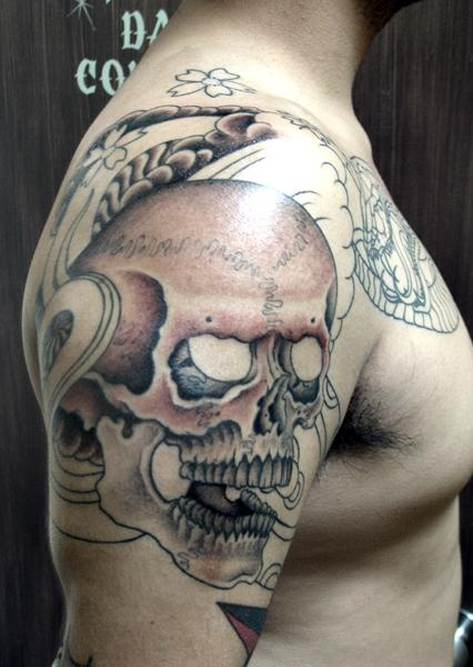 Afrenchieforyourthoughts skulls tattoos have meaning for Skull tattoos meaning